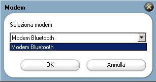 selezionare il modem bluetooth