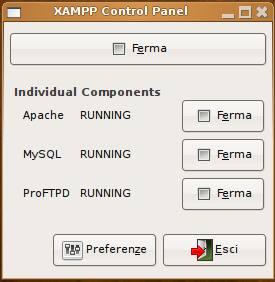 xampp per il blog in locale
