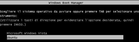 boot vista + ubuntu